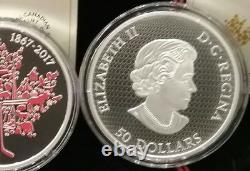 1867-2017 Canadian Icons Maple Leaf $50 5OZ Pure Silver Coin Canada150 PrivyMark