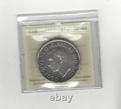 1947 Maple Leaf ICCS Graded Canadian Silver Dollar SP-64