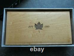 1979 1989 Canada Maple Leaf Silver Gold Platinum Proof set withCOA and Box