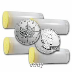 1 oz Canadian Silver Maple Leaf Coin BU (Random)- Lot of 100 Coins