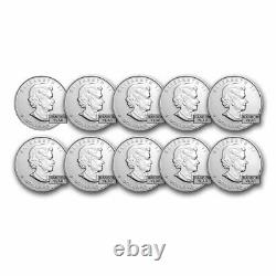1 oz Canadian Silver Maple Leaf Coin BU (Random) Lot of 10 Coins