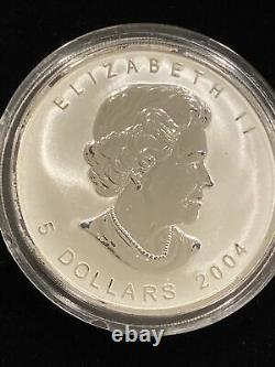 2004 REVERSE PROOF CANADA SILVER MAPLE LEAF 5-COIN SET with RCM Logo Privy