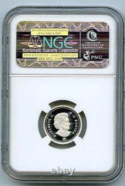 2012 Canada Silver Cent Ngc Pf70 Ucam Proof First & Last Year Issue Gilted Maple