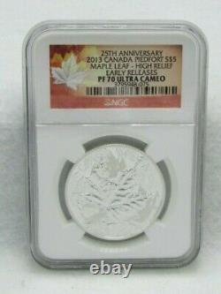 2013 Canada Piedfort $5 Maple Leaf High Relief NGC PF Ultra Cameo Early Releases