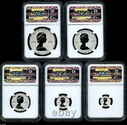 2013 Canada Silver Maple Leaf Ngc Pf70 Reverse Proof 25th Anniversary Set Fr