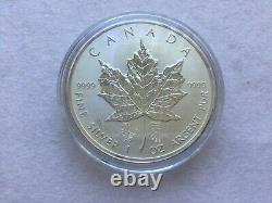 2014 1oz Silver Chinese Double Horse Privy Silver Maple Leaf mintage only 500