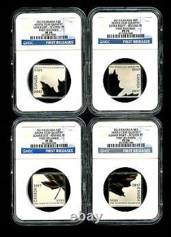 2017 Canada Silver Ngc Pf70 Maple Leaf Quartet Reverse Proof 4-coin Set Fr Rare