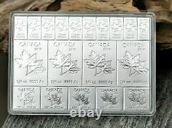 2018 Canada'MapleFlex' Fractional 2 oz Maple Leaf 9999 Fine Silver Bar in Case