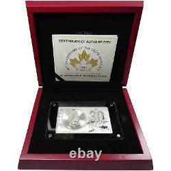 2018 Canadian Maple Leaf 30th Anniversary 3 oz. 9999 Silver Coin and Bar Set