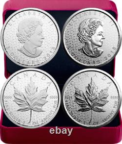 2018 Silver Maple Leaf 30-Anniversary 2OZ Silver Set 2 $5-Coins Proof Canada SML