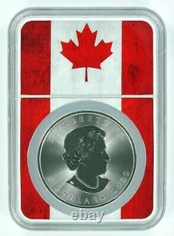 2020 Canada 1oz Silver Maple Leaf NGC MS70 Flag Core