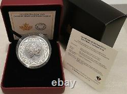 2020 Canadian Maple Leaf Brooch Legacy $30 2OZ Pure Silver Proof Coin Canada