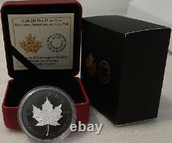 2020 Silver Maple Leaf Double-Incuse Rhodium-Plated $20 1OZ Silver Coin Canada