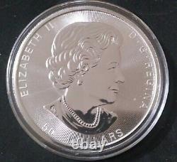 2021 10 oz Canadian Magnificent Maple Leaf (Gem Bu). 9999 Fine Silver NEW