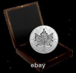 2021 1 Kilo/Kilogram Super Incuse Maple Leaf (SML) Silver Coin Canada