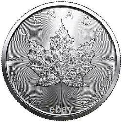 2021 1 oz Canadian Silver Maple Leaf BU $5 0.9999 Fine Lot of 5