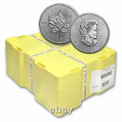 2021 1 oz Silver Maple Leaf BU Monster Box of 500 Coins. 9999 Fine Silver