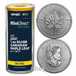 2021 CAN Silver Maple Leaf (25-Coin MD Premier Tube + PCGS FS) SKU#218779