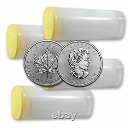 2021 Canada 1 oz Silver Maple Leaf BU Lot of 100 Coins (4 Tubes)