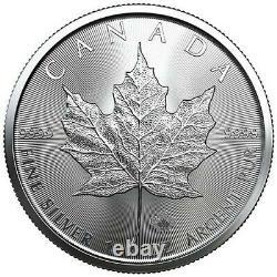 2021 Canada 1oz Maple Leaf Silver Coins x Lot of 5