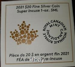 2021 Canada Maple Leaf Super Incuse 1 oz Silver NGC PF70 Reverse Proof FDOI Coin