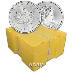 2021 Canada Silver Maple Leaf 1 oz $5 BU Sealed 500 Coin Monster Box
