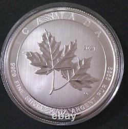 2021 Canadian 10 oz Magnificent Maple Leaf (Gem Bu). 9999 Fine Silver NEW