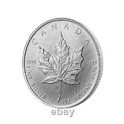 2021 Silver Maple Leaf Winnipeg Edition W Mint Mark $5 1oz Mintage 8,000 only