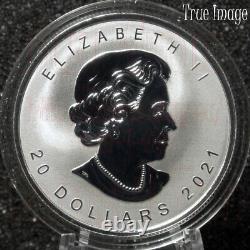 2021 Super Incuse Silver Maple Leaf SML $20 Pure Silver Proof Coin Canada