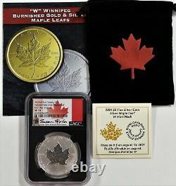 2021 W $5 Canada 1oz Silver Maple Leaf Tailored Specimen NGC SP70 FDOI Taylor
