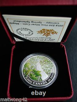 CANADA $20.999 Fine Silver 1 oz. Coin Maple Canopy Spring 2014 SOLDOUT