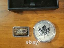 Canada 1998 10 OZ Maple leafs $50.9999 10th Anniversary