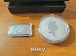 Canada 1998 10 OZ Maple leafs $50.9999 10th Anniversary, CAO sterling Silver