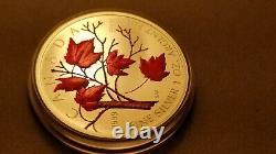 Canada 2004 1Oz Maple Leaf Coloured Fine Silver Coin