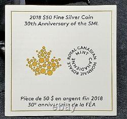 Canada 2018 $50 3 oz Silver Reverse Proof Incuse Maple Leaf NGC PF 70 FDI w COA