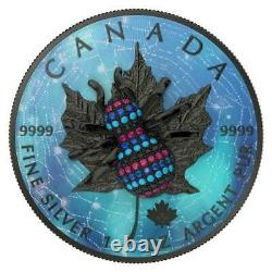 Canada 2019 5$ Maple Leaf Bejeweled Spider 1 Oz 999 Silver Coin Only 500 pcs