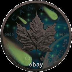 Canada 2021 $5 Maple Leaf Glowing Galaxy III 1 oz
