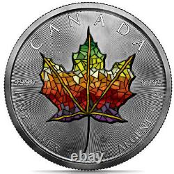 Canada 2021 $5 Maple Leaf MOSAIC ANTIQUE FINISH EDITION 1 oz