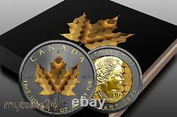 Canada 2021 $5 Maple Leaf MOSAIC RUTHEN GOLD 24k EDITION 1 oz