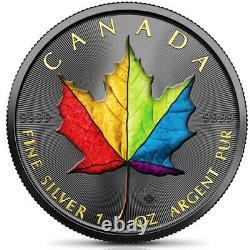 Canada 2021 $5 Maple Leaf RAINBOW EDITION 1 oz
