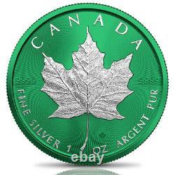 Canada 2021 $5 Maple Leaf SPACE GREEN 1 oz