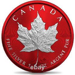 Canada 2021 $5 Maple Leaf SPACE RED 1 oz