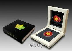 Canada 2021 $5 Maple Leaf SPACE RED + GOLD HOLOGRAPHIC EDITION 1 oz