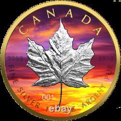 Canada 2021 $5 Maple Leaf Sunset 1 oz