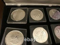 Canada Wildlife Series $5 BU Silver Coin Set of 6 in Case 2011 2012 2013 Maple