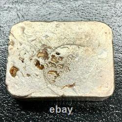 Jade Assay 9.76oz. 999 Vintage Poured Silver Bar Canada Maple Leaf