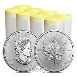 Lot of 200 2021 1 oz Canadian Silver Maple Leaf. 9999 Fine $5 Coin BU
