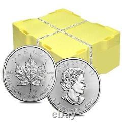 Lot of 5 2021 1 oz Canadian Silver Maple Leaf. 9999 Fine $5 Coin BU