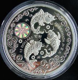 NEW! 2015 Canada 1 oz Fine Silver $15 Coin Maple Of Longevity Hologram