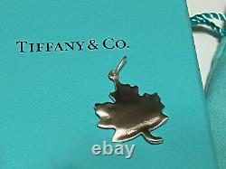 RARE DISCONTINUED Tiffany & Co. Canada Maple Leaf. 925 Silver Charm BRAND NEW